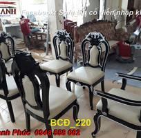 2 10 mẫu bàn ghế ăn tân cổ điển đẹp cho phòng ăn cao cấp, sang trọng phong cách châu âu