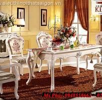 18 10 mẫu bàn ghế ăn tân cổ điển đẹp cho phòng ăn cao cấp, sang trọng phong cách châu âu