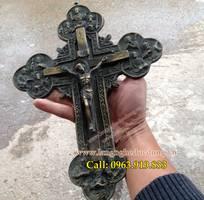 Thánh giá bằng đồng, mẫu thánh giá cao 30cm, giá bán tượng thánh giá