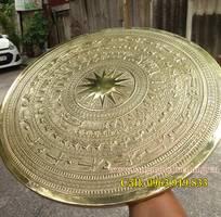 3 Mặt trống đồng vàng đk 40cm, bán mặt trống đồng