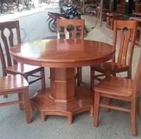 4 Bộ bàn ghế ăn kiểu bàn tròn gỗ Gụ, Bộ Bàn Ghế Ăn Tròn - gỗ sồi Nga và gỗ Xoan Đào