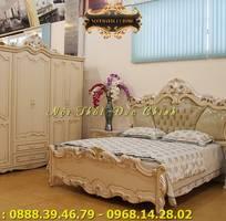 7 Giường ngủ tân cổ điển giá rẻ - giường ngủ phong cách cổ điển Châu Âu q2, q7