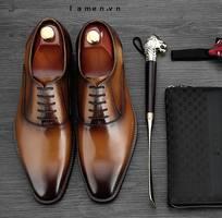 4 Giày Tây Buộc Dây Nam Cao Cấp, Giày Nam Công Sở Oxford đẹp nhất