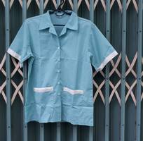 3 Bộ tạp vụ nữ hàng công ty may sẵn áo kate quần thun gân đen giá chỉ 175K/bộ.