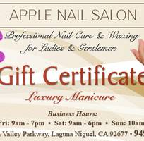 Card nail, gift certificate