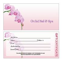 1 Card nail, gift certificate