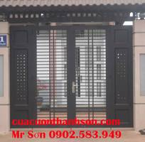 2 Sản xuất lắp đặt cửa sắt , cổng sắt tự động long khánh đồng nai