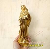 Tượng đức mẹ maria bằng đồng, tuong me maria, tượng thiên chúa giáo