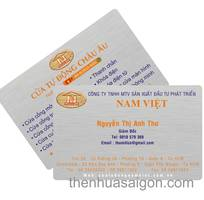 1 Nhận in thẻ giữ xe, name card bằng chất liệu nhựa PVC