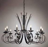 1 Đèn trang trí sắt nghệ thuật, đèn chùm sắt nghệ thuật