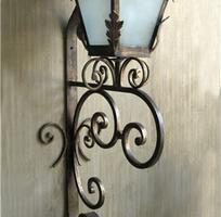 2 Đèn trang trí sắt nghệ thuật, đèn chùm sắt nghệ thuật