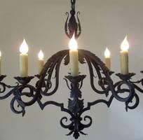 5 Đèn trang trí sắt nghệ thuật, đèn chùm sắt nghệ thuật