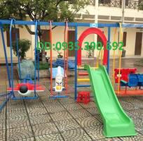 3 Cầu trượt liên hoàn,cầu trượt khu vui chơi giải trí,cầu trượt cho bé mầm non