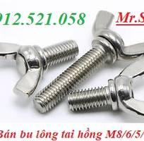 Inox 304 bu lông cánh chuồn M10 30,bu lông tai hồng M8 60,bu lông mắt M20 200,tai cẩu đủ loại,giá rẻ