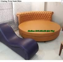 1 Chuyên bán giường ngủ hình tròn cực đẹp thiết kế theo yêu cầu