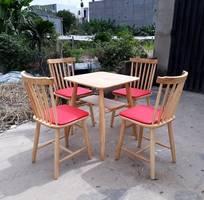3 Bàn ghế cafe, bàn ghế nhà hàng, bàn ghế gỗ quán cafe giá rẻ
