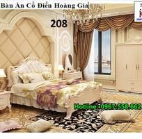 19 Bộ giường tủ màu trắng cổ điển cực đẳng cấp đặt đóng tại xưởng