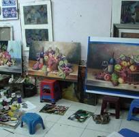 14 Thanh lý toàn bộ tranh sơn dầu vẽ tay vì sắp chuyển xưởng - giá chỉ còn 50