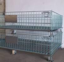 1 Lồng sắt, lồng thép, lồng trữ hàng, lồng lưới, pallet lưới, xe đẩy lưới,Pallet lồng thép lưới