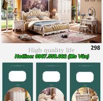 1 Top 20 bộ giường tủ gỗ tự nhiên phong cách tân cổ điển cực xinh