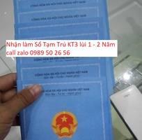 Làm Sổ Tạm Trú KT3 lùi ngày , sổ hộ khẩu tại TP Hồ Chí Minh