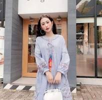 Đầm BabyDoll Thêu diện hè cực mát mẻ , cực tôn dán