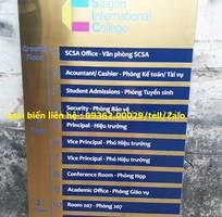 4 Các loại biển chỉ dẫn treo tường , chỉ dẫn tòa nhà bằng inox, mica