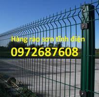 1 Lưới thép hàng rào uốn sóng, lưới thép hàng rào mạ kẽm, sơn tĩnh điện