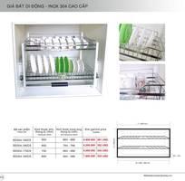3 Giá Đựng Bát Đĩa Nâng Hạ Di Động INOX 304 BOSSEU