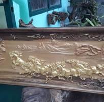 7 Tranh gỗ mã đáo thành công dát vàng