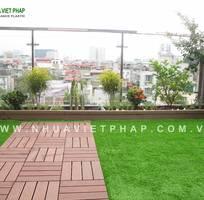 2 Vỉ gỗ nhựa lát sàn ban công Nhựa Việt Pháp