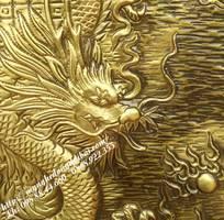 1 Tranh đồng rồng vàng TRV03 Tranh đồng Đại Bái