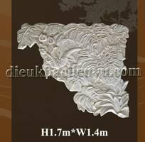 Phfu điêu lá rách trang trí góc tường