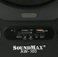1 Loa vi tính Soundmax AW300 2.1 đọc thẻ SD, usb, bluetooth, remote chính hãng