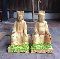 3 Tượng thờ gian thờ mẫu gỗ mít sơn son thếp vàng