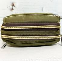 6 Túi đeo chéo kiểu ngang màu xanh rêu dây kéo mạ vàng TDC0001