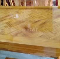 Bán bộ bàn ghế ăn gỗ xoan đc làm tại xưởng củachắn
