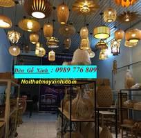 15 Đèn thả trần bằng gỗ, đèn gỗ Nhật giá rẻ