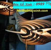 4 Xưởng đèn gỗ giá rẻ, đèn gỗ treo trần