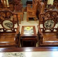 5 Bộ bàn ghế móc đá 8 món gỗ cao cấp