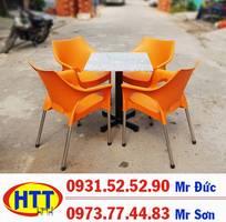 Bàn ghế cafe nhựa đúc giá rẻ tại HCM HTT123