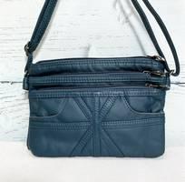 Túi xách nữ nhiều ngăn đeo chéo màu xanh TX0002