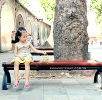 1 Ghế băng gỗ nhựa ngoài trời không tựa Nhựa Việt Pháp