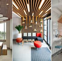 Thiết kế nhà hàng, tiệm coffee với gỗ nhựa sinh thái Nhựa Việt Pháp