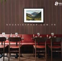 1 Thiết kế nhà hàng, tiệm coffee với gỗ nhựa sinh thái Nhựa Việt Pháp