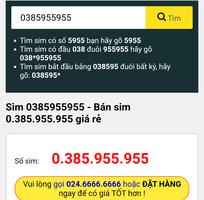 Bán sim taxi giá siêu rẻ 0385.955.955
