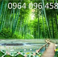 Tranh gạch 3d phong thủy rừng tre