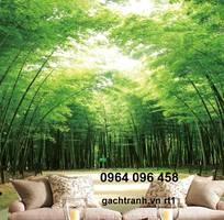 1 Tranh gạch 3d phong thủy rừng tre