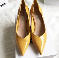 4 Giày cao gót 5P trơn bóng mũi nhọn Mã 296-08