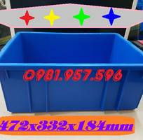 1 Khay linh kiện, thùng nhựa đặc đựng chi tiết sản phẩm, thùng nhựa công nghiệp